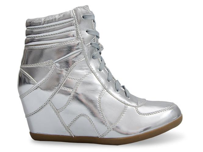 Białe buty sportowe z brokatem I love it