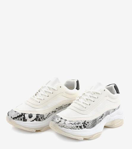 Białe sneakersy damskie Women world