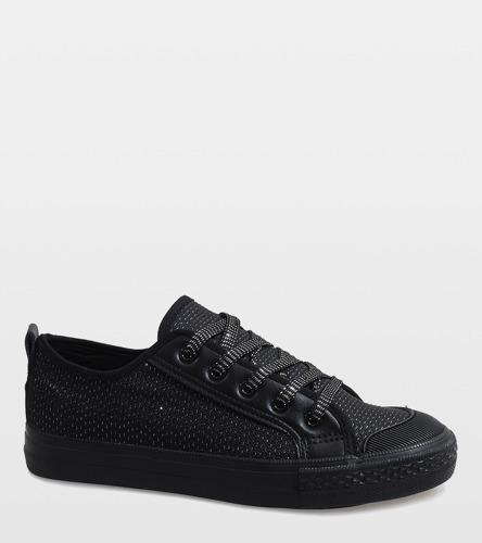 Czarne ażurowe sandały na słupku Pimp